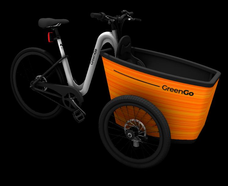 The N Bike Cargo Orange